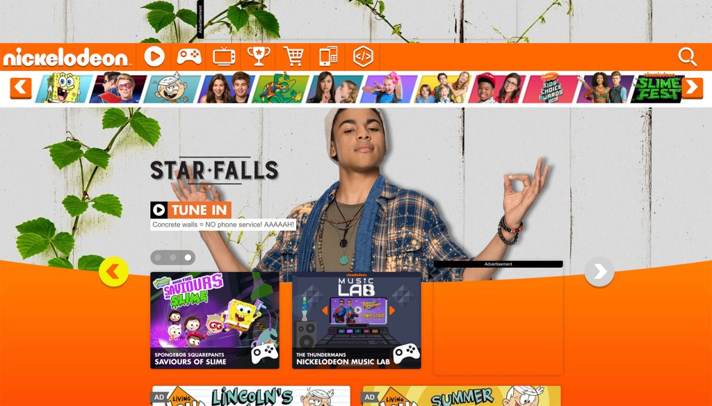 Children's TV channel Nickelodeon uses orange to create excitement and energy.