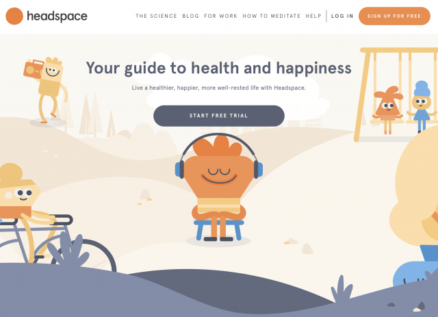 Headspace illustration example