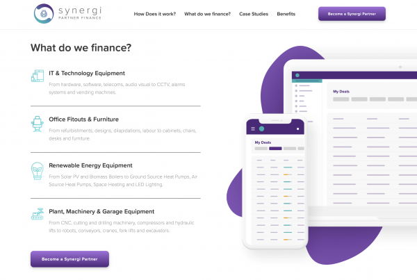 Organic Shapes in Web Design for Finance Agency in Hull