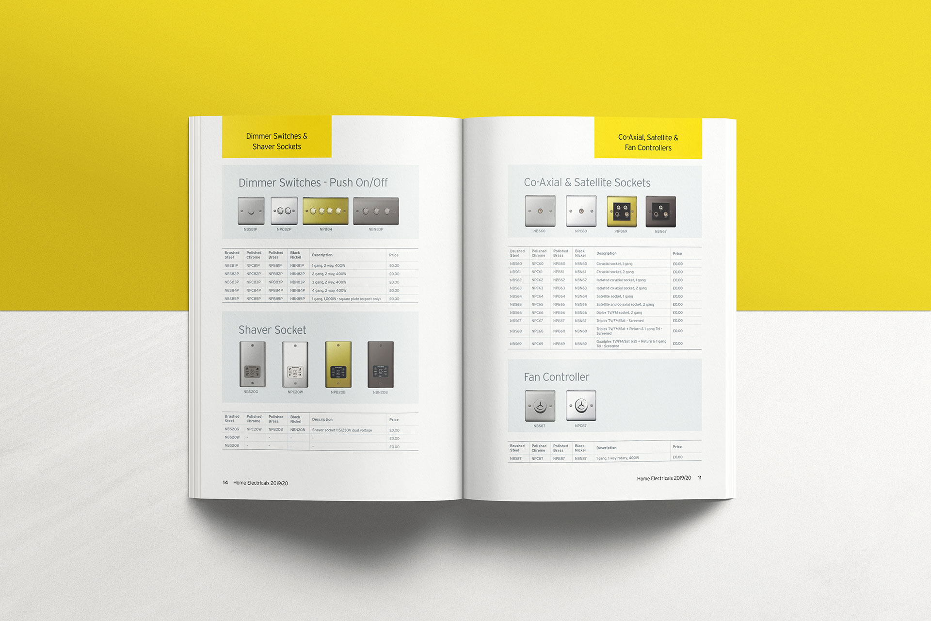 Graphic Design electrical brochure for construction company MKM in Hull