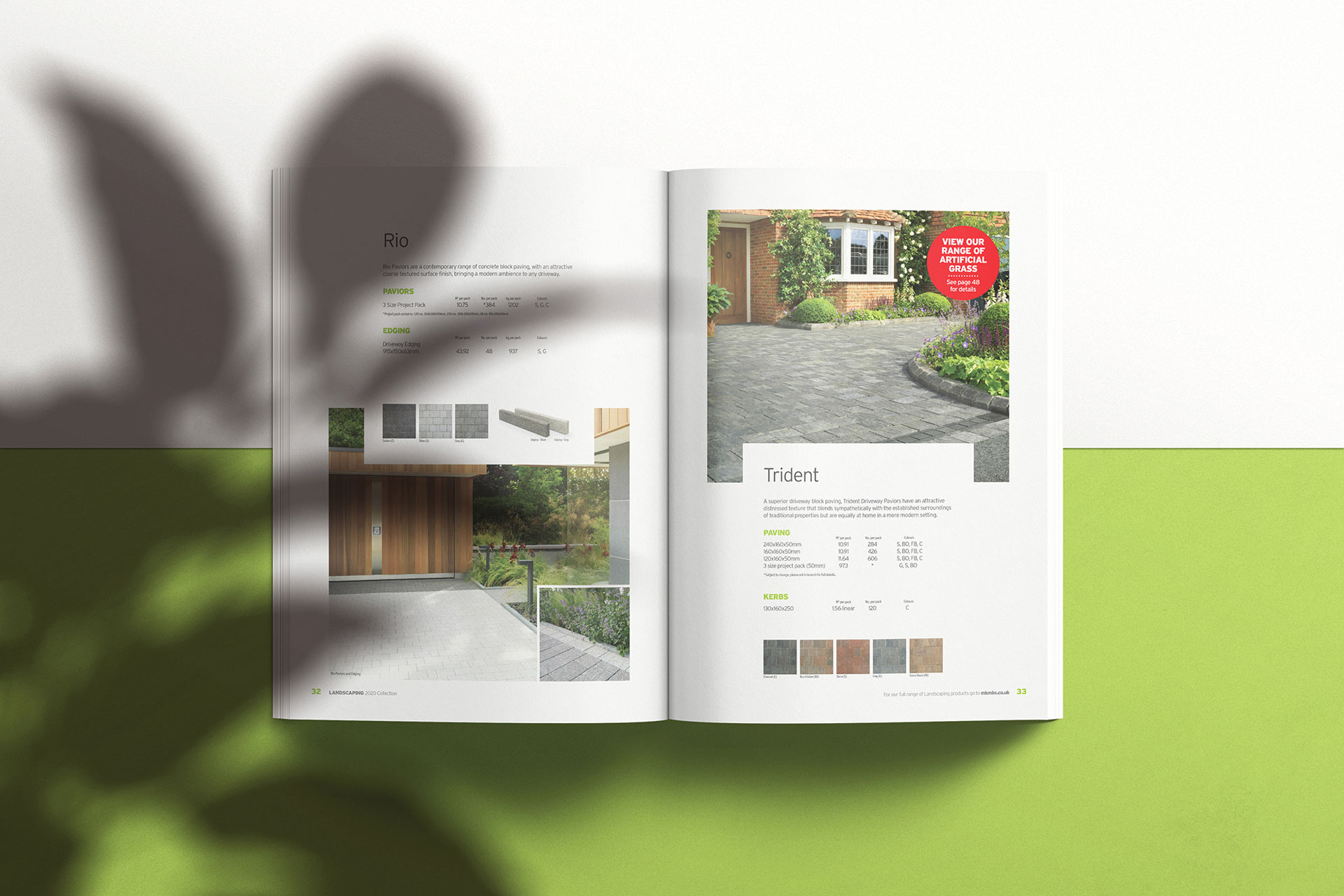 Graphic Design Landscaping Brochure for construction company MKM in Hull